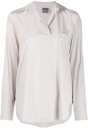 Lorena Antoniazzi V-Neck Plain Shirt