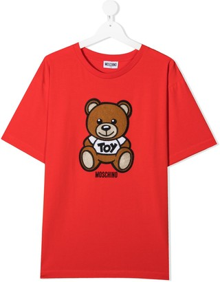 MOSCHINO BAMBINO TEEN teddy bear-print short-sleeved T-shirt