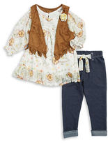 Nannette Girls 2-6x Floral Peasant Top and Leggings Set