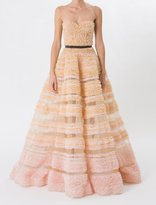 J. Mendel Ballet Pink and Champagne Silk Cupcake Gown