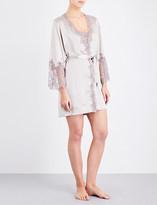 Marjolaine Caprise short silk robe