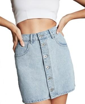 Cotton On Button Down Denim Mini Skirt