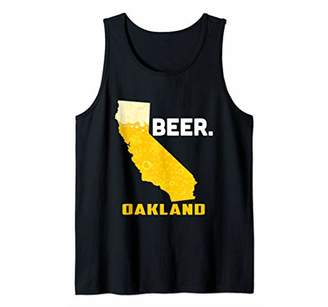 State CA California Drinking Home Love Beer Oakland City Tank Top