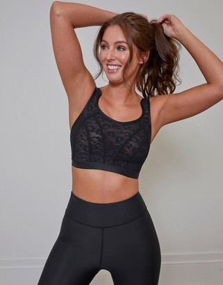 Pour Moi? Pour Moi Energy Strive Non-Wired Full Cup Lace Sports Bra in Black