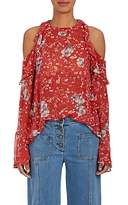 IRO Women's Cutout-Shoulder Floral-Print Chiffon Top