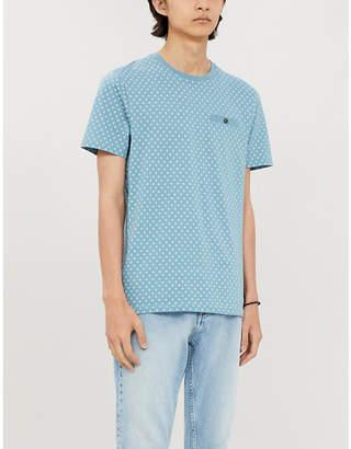 Ted Baker Geometric dot-print cotton-jersey T-shirt