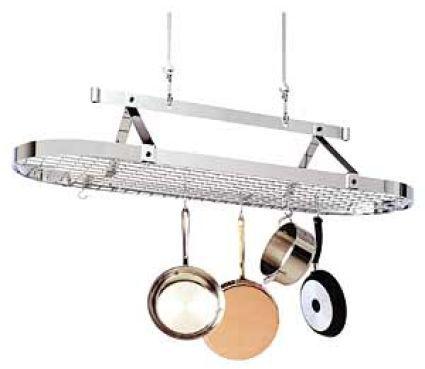 Enclume Chrome-Plated Oval Pot Rack