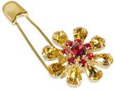 Dolce & Gabbana Crystal Flower Safety Pin