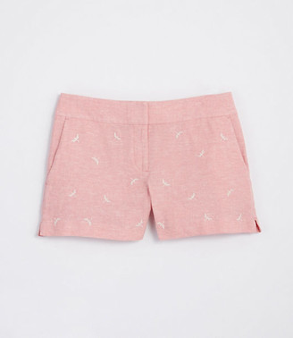 LOFT Embroidered Dragonfly Riviera Shorts