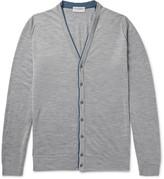 John Smedley - Bedminster Contrast-trimmed Merino Wool Cardigan