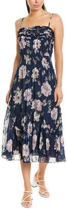 Rebecca Taylor Magnolia Silk-Blend Maxi Dress