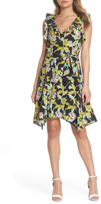 Paige Meera Ruffle Fit & Flare Dress