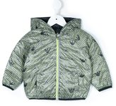 Armani Junior logo print jacket
