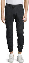 Belstaff Stratham Mixed-Media Jogger Pants, Black