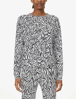 Stripe & Stare Safari printed stretch-jersey sweatshirt