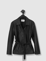 Thumbnail for your product : Deadwood Tyra Leather Coat