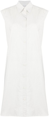 Acne Studios Fine-Stripe Sleeveless Shirt Dress