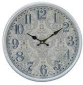 "August Grove Elkland Traditional Flourish-Designed Round 12"" Wall Clock"