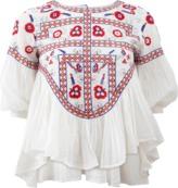 Antik Batik Floral Embroidered Top