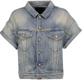 R 13 Faded denim jacket