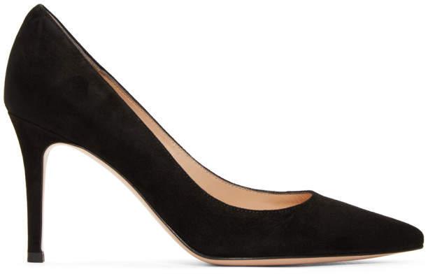 Gianvito Rossi Black Camoscio Heels