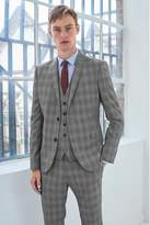 Mens Next Grey Skinny Fit Check Suit: Jacket