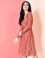 Yumi Lace Ruffle Dress