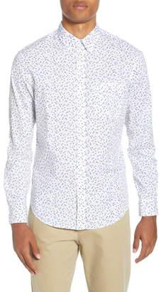 Club Monaco Agave Ditsy Slim Fit Button-Down Shirt