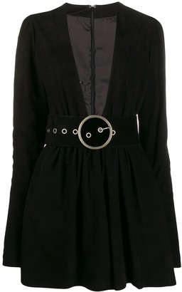 Manokhi deep V-neck dress