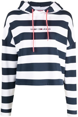 Tommy Jeans Striped Logo-Print Hoodie