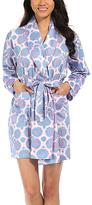 Malabar Bay Lychee Blue Organic Cotton Sateen Short Robe