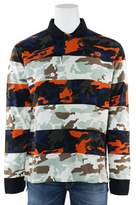 Givenchy Men's Two Tone Multi Color Camouflage Polo Shirt.