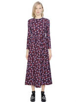 Mother of Pearl Floral Print Viscose Blend Jersey Dress
