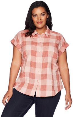 Lucky Brand Women's Size Plus Plaid TOP