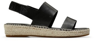 Cole Haan CloudFeel Leather Espadrille Slingback Sandals