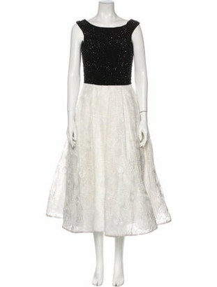 Jovani Floral Print Long Dress Black