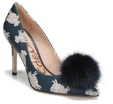 Sam Edelman Women's Haroldson Pump With Faux Fur Pompom