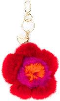 Twin-Set fur flower keyring