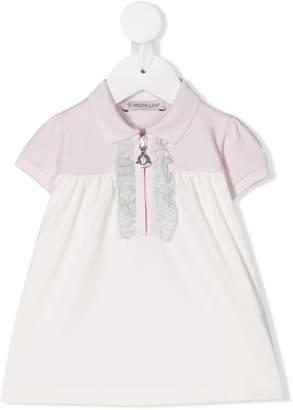 Moncler Enfant Ruffle-Trimmed Polo Dress