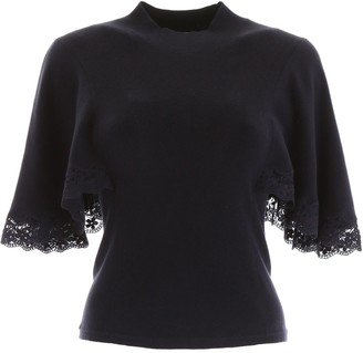 See by Chloe Lace Trim T-Shirt