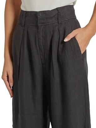 Joie Paloma Wide-Leg Linen Trousers