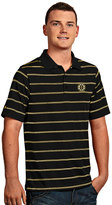 Antigua Men's Boston Bruins Deluxe Striped Desert Dry Xtra-Lite Performance Polo