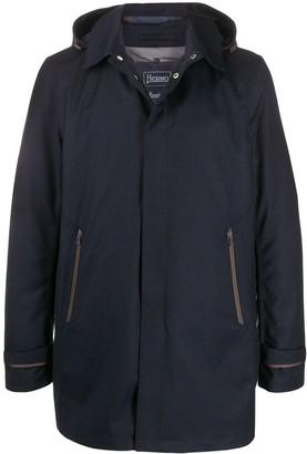 Herno Hooded Concealed Placket Coat