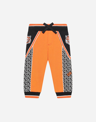 Dolce & Gabbana Inlaid Jersey Jogging Pants With Print
