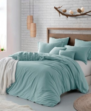 Cathay Home, Inc Microfiber Washed Crinkle Duvet Cover & Shams, King/California King Bedding