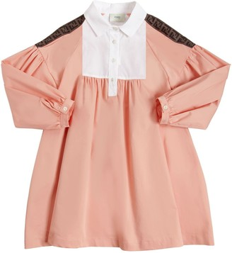 Fendi Cotton Blend Poplin Shirt Dress