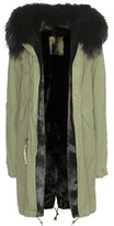 Mr & Mrs Italy Fur-lined parka with fur-trimmed hood