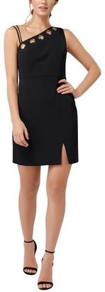 Ever New Kiki Asymmetrical Bodice Eyelet Mini Dress