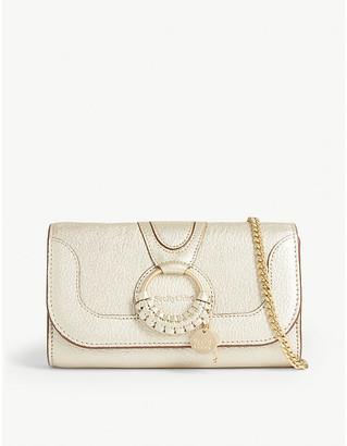See by Chloe Hana metallic leather wallet-on-chain