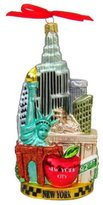 Kurt Adler C4055 New York Glass Cityscape Ornament, 5-1/2-Inch